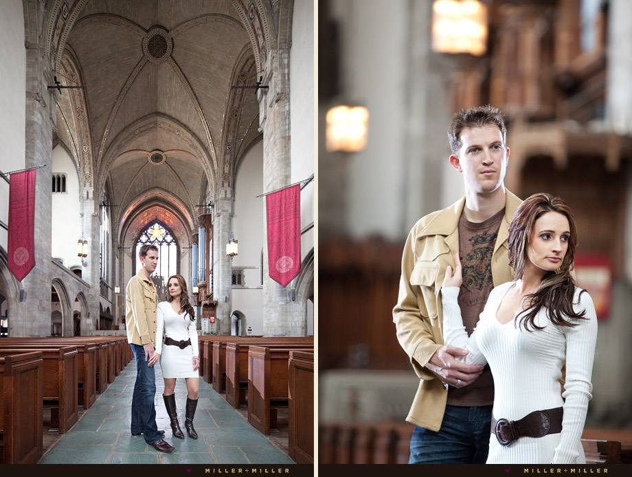 rockefeller chapel engagement photography