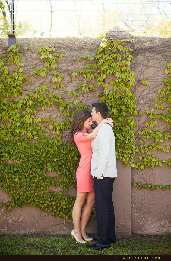 spring engagement pictures in city