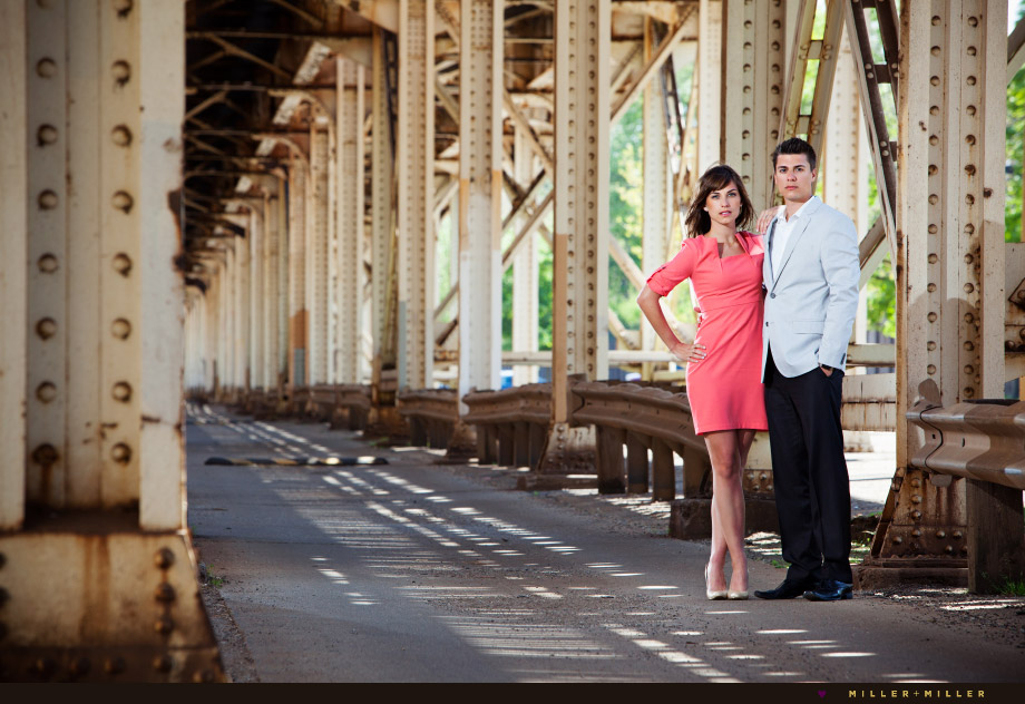 wicker park wedding engagement photos