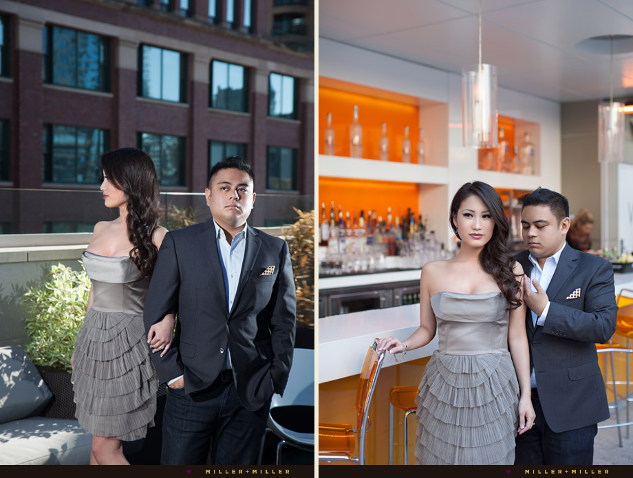 chic fashion inspired engagement