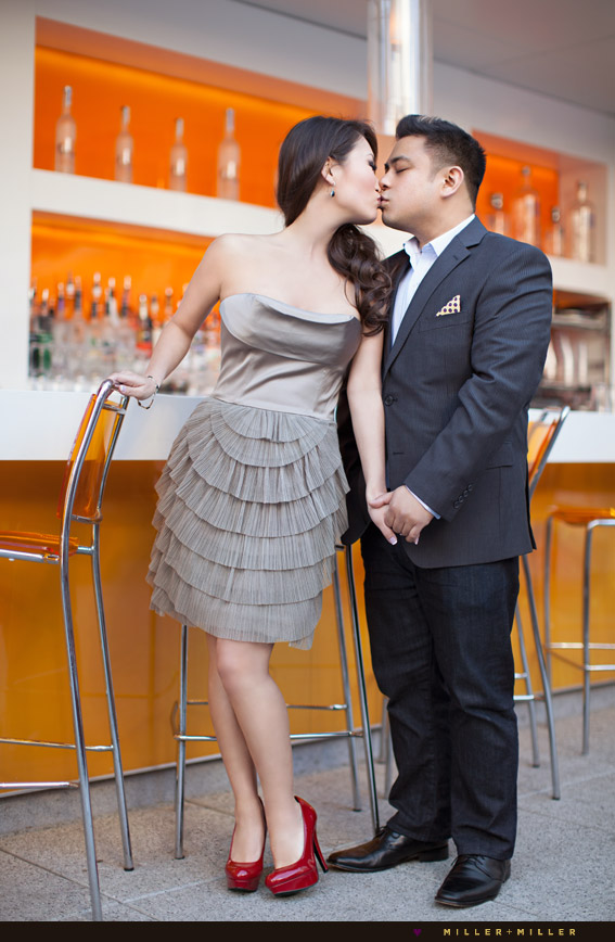 cocktail bar engagement photography