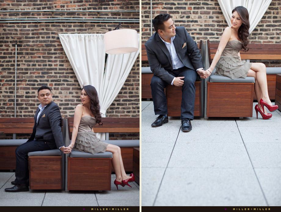 epic chicago outdoor terrace wedding