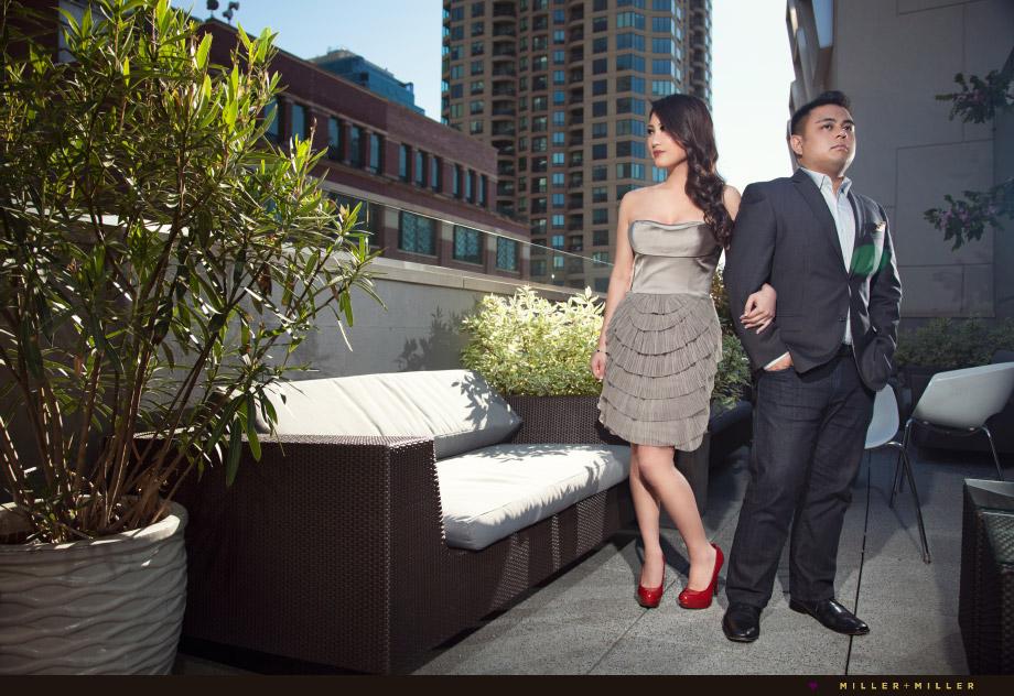 epic rooftop wedding