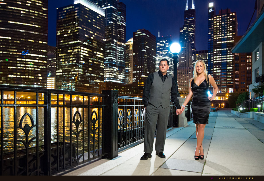 chicago skyline engagement photos