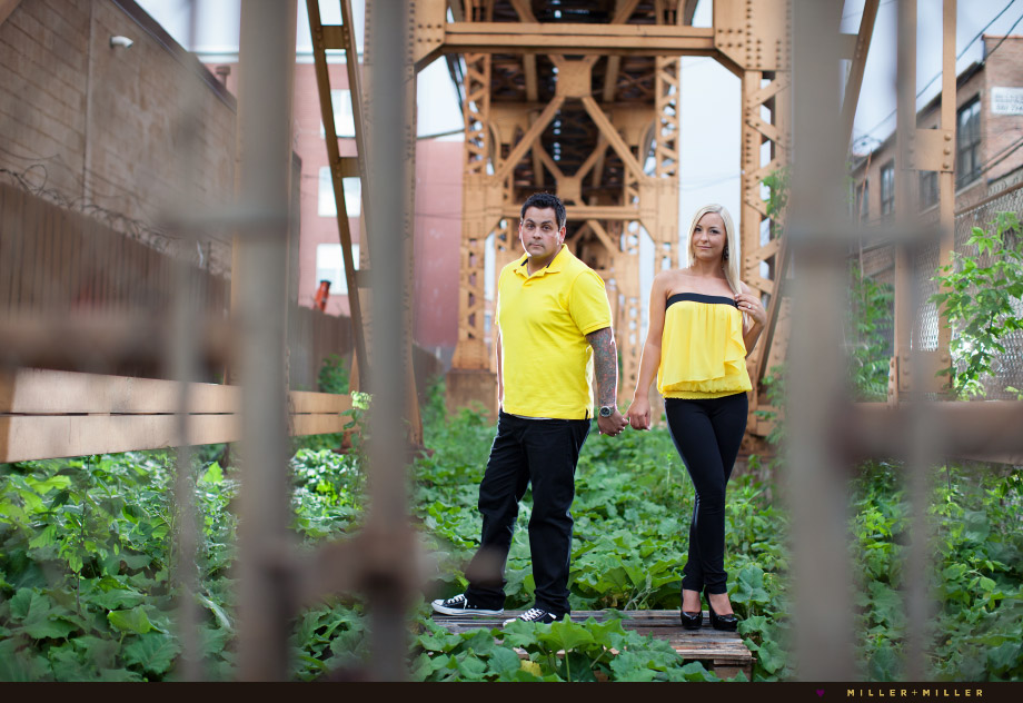 downtown off-beat engagement images chicago