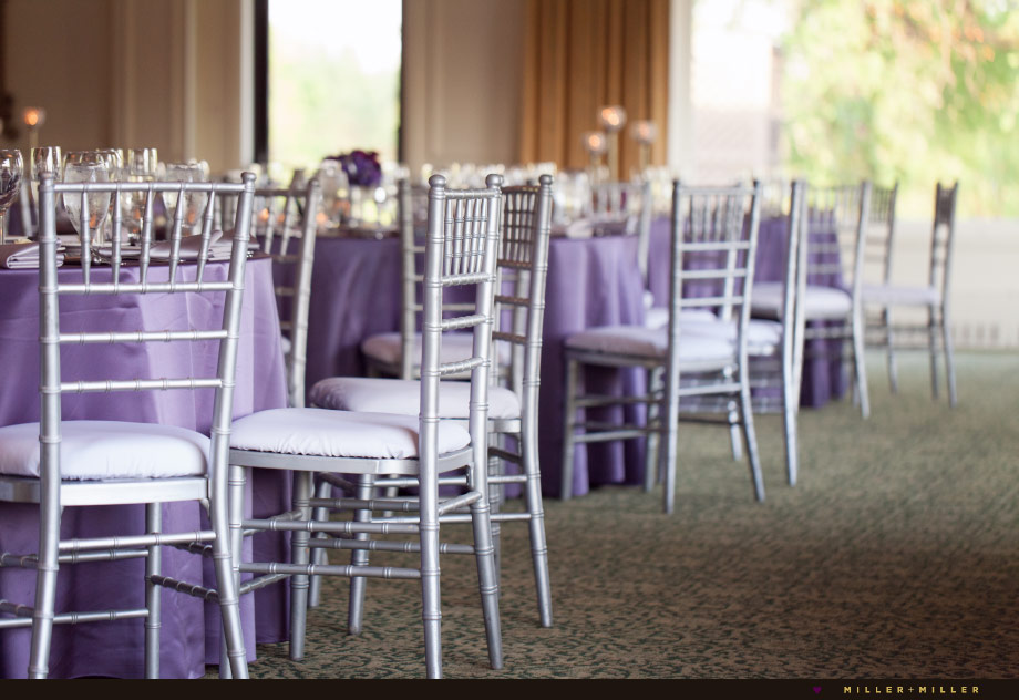elegant country club reception silver chairs