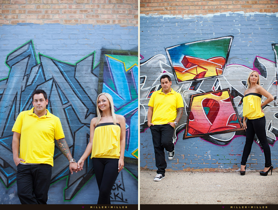 graffiti chicago engagement session