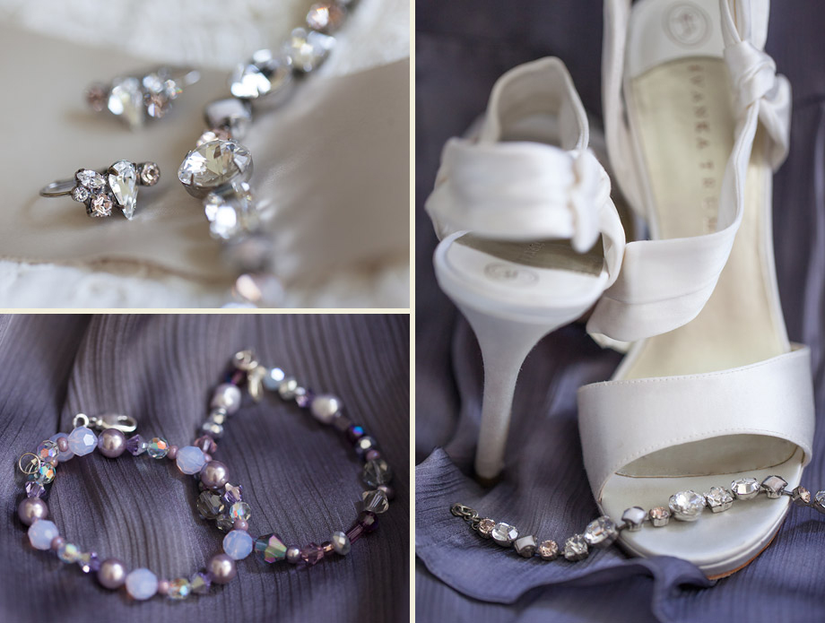 purple spring bridal accessories