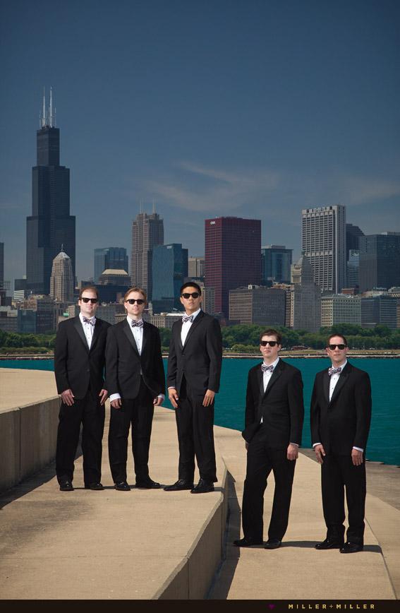 groom groomsmen ray  ban sunglasses