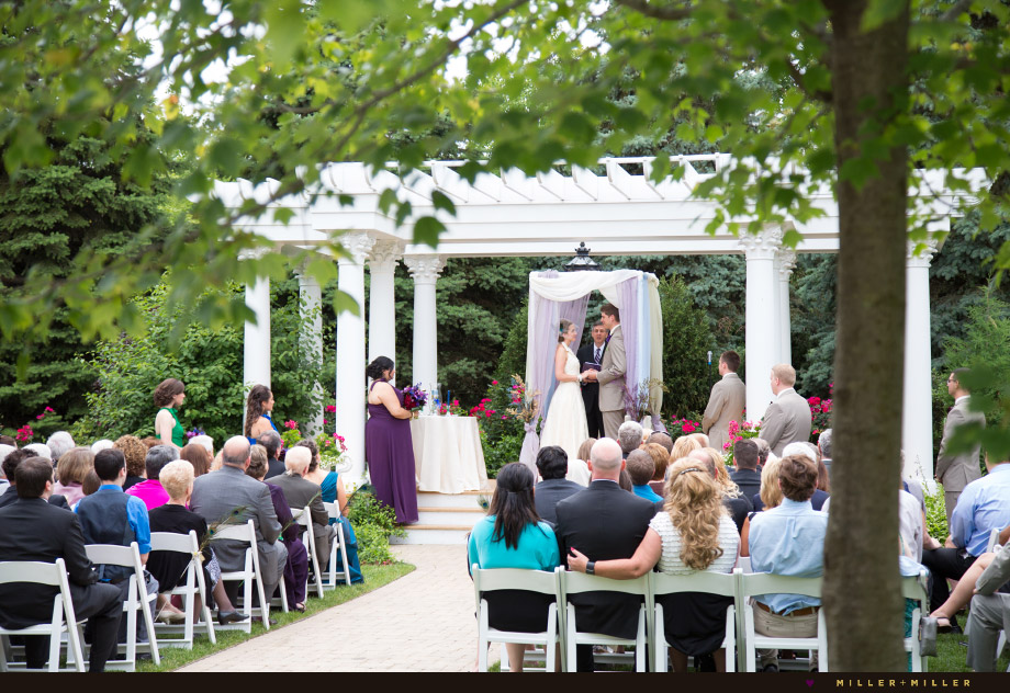outdoor garden pergola ceremony