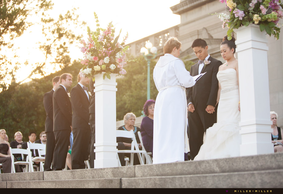 outdoor golden evening ceremony