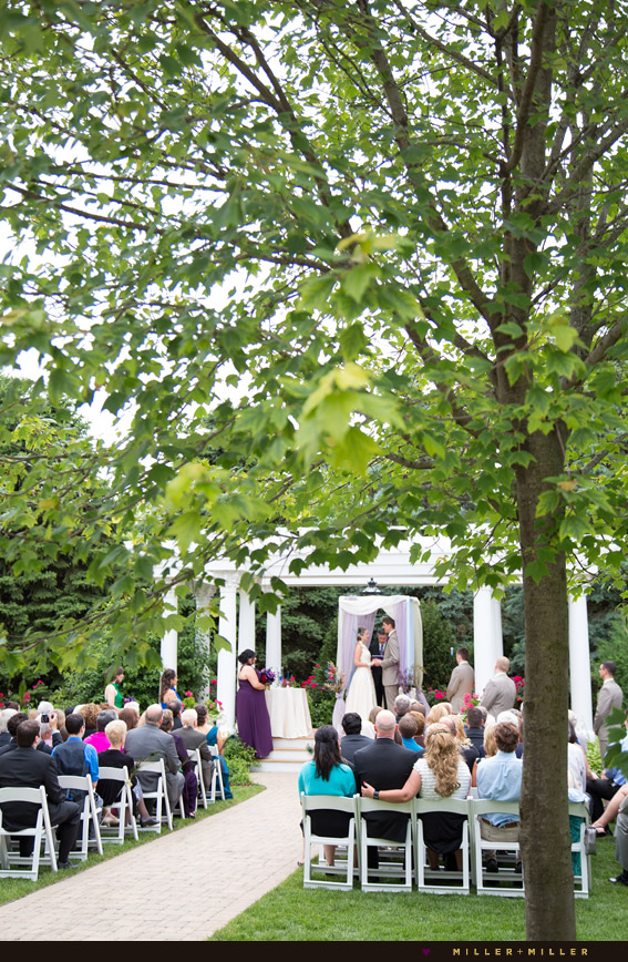 summer illinois outdoor ceremony