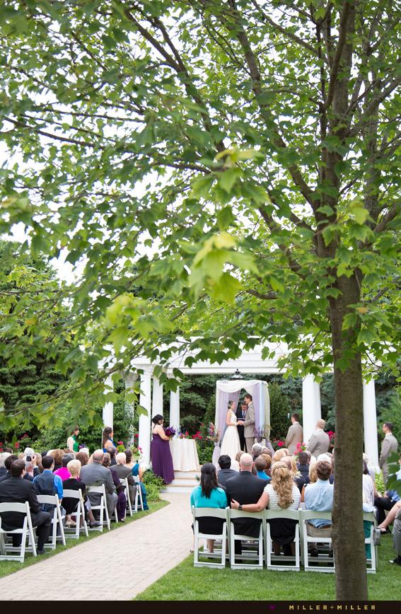 summer illinois outdoor ceremony