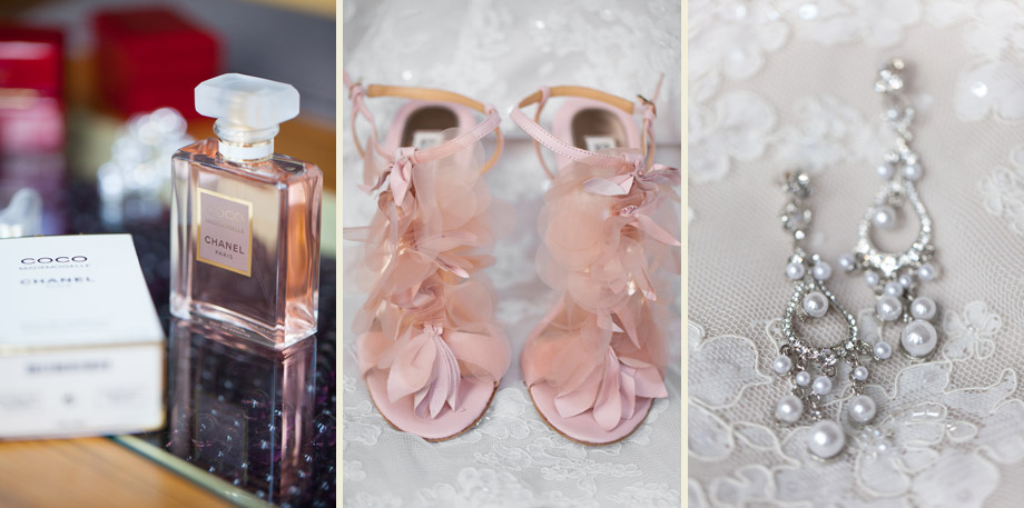 bride blush pink details photos