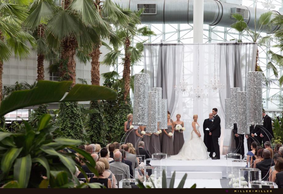 Navy pier garden wedding