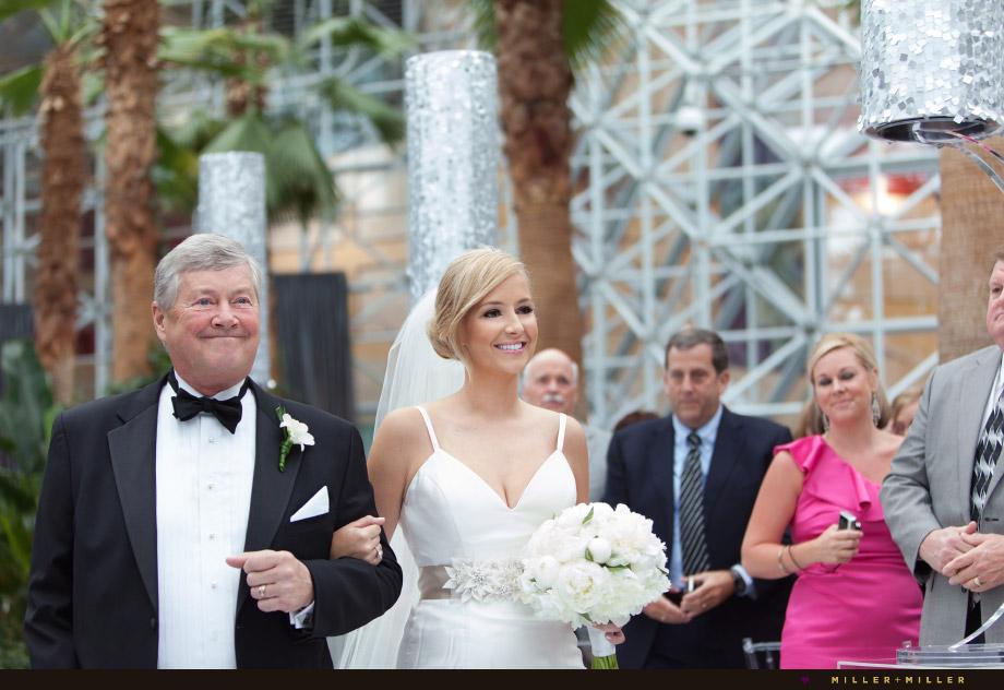 dad walking bride aisle