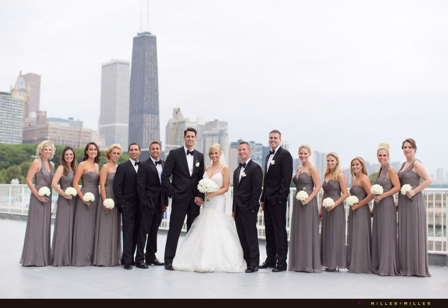 simplistic black gray bridal fashion