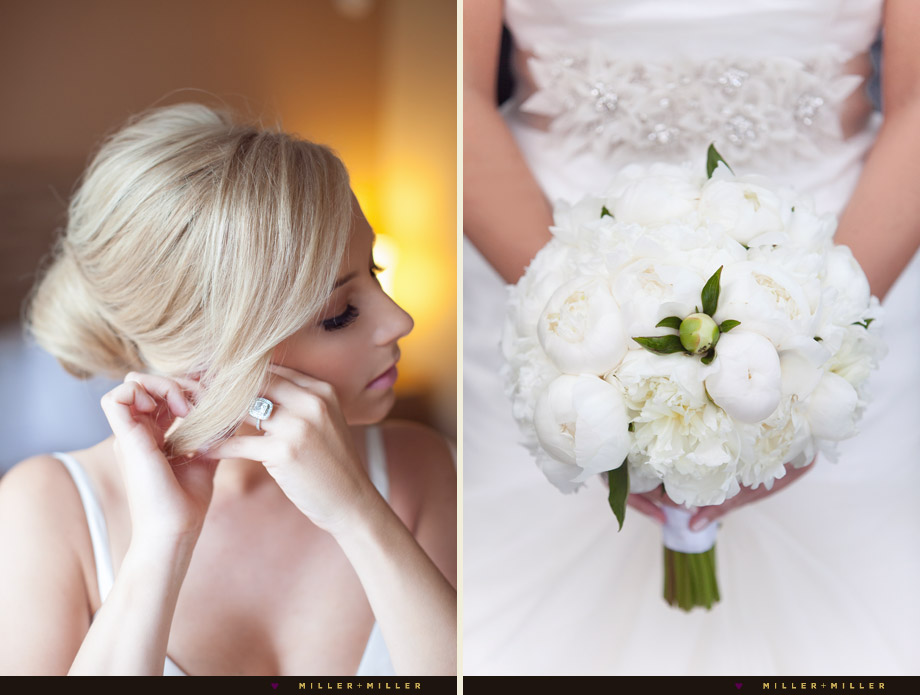 stunning bride crystals white peonies