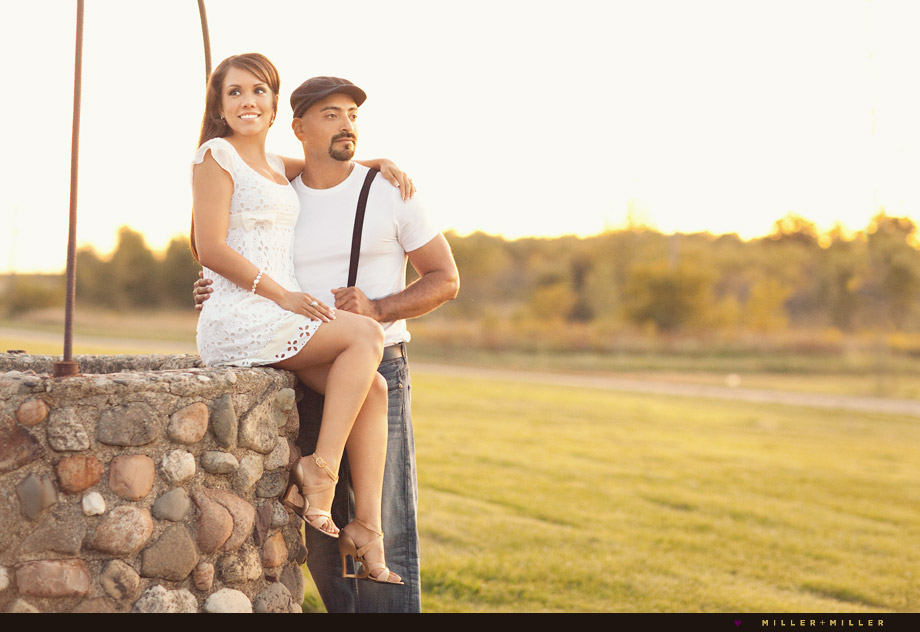 creative Illinois engagement pictures