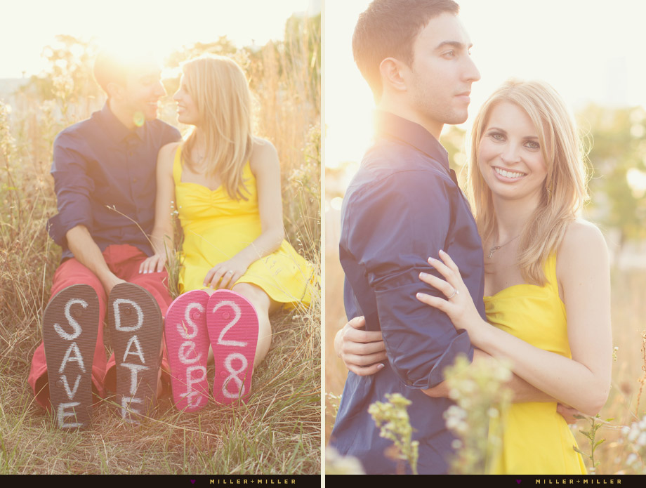 tall grass nature couple portraits
