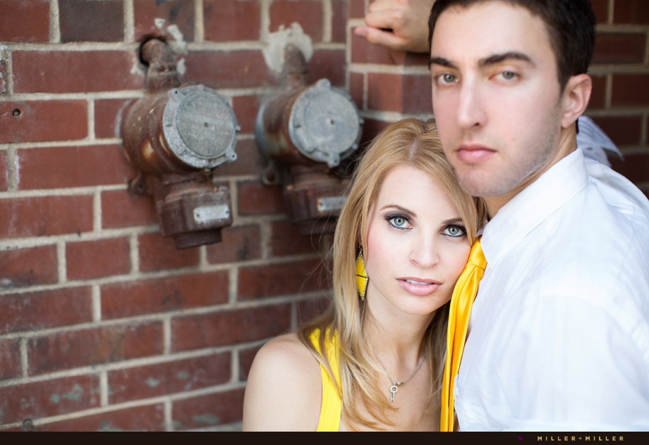 yellow in engagement photos