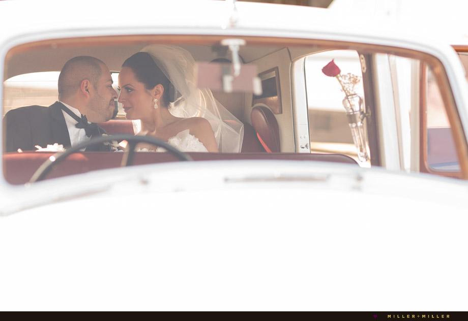bride groom back seat bentley