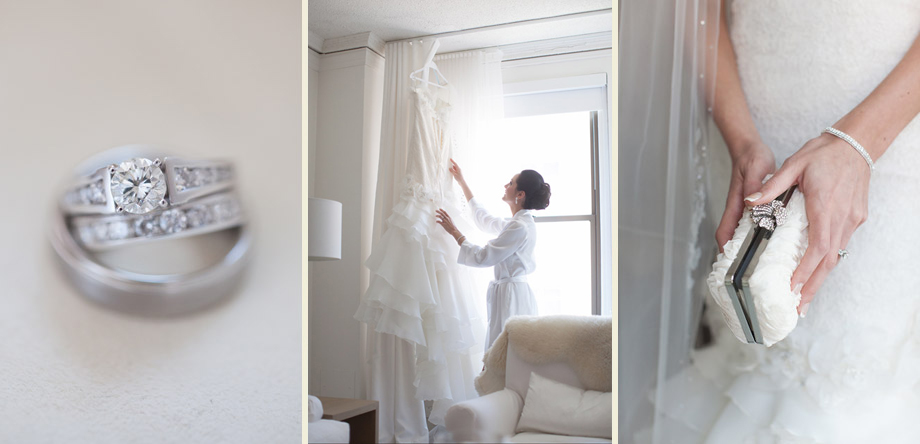 bride hotel room detail pictures