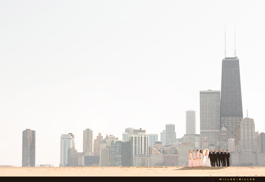 chicago skyline wedding photographs