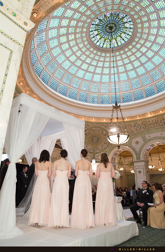 classic city ceremony tiffany stained glass dome