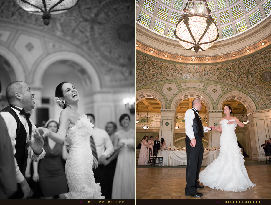 historic landmark bride groom dancing photos