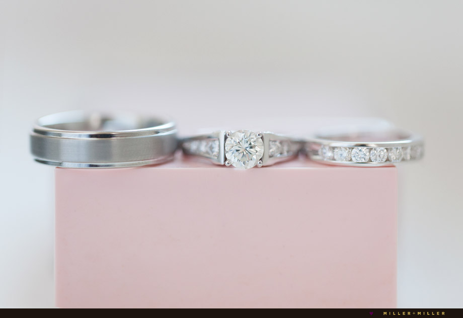 pink platinum round rings