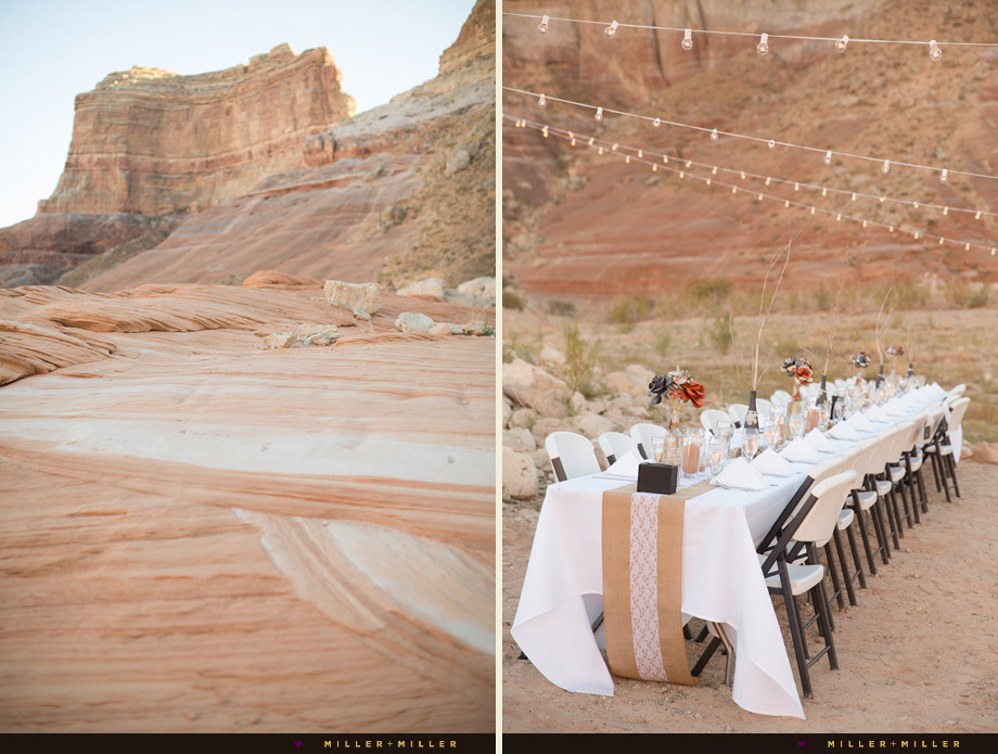 Arizona Utah desert outdoor wedding reception