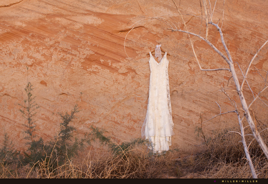 bohemian desert rock canyon wall hanging gown