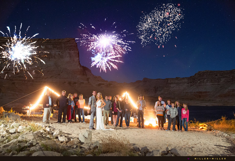 fireworks desert unique destination wedding