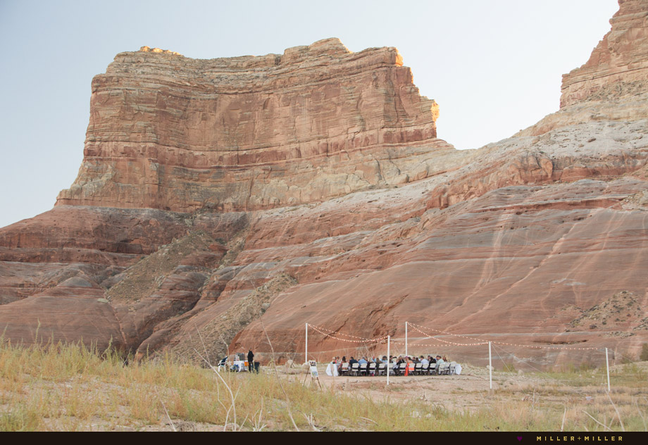 Lake Powell outdoor wedding reception