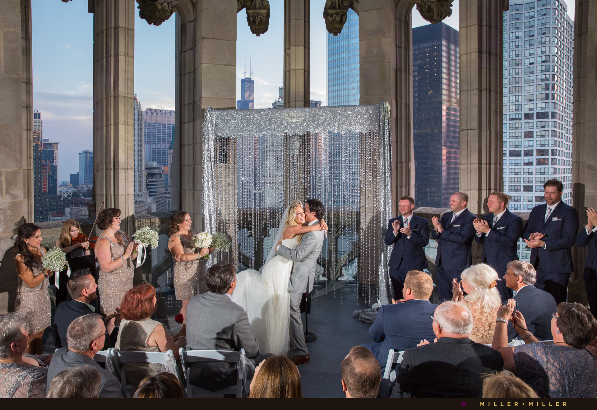 Chicago Tribune Tower Crown wedding photos