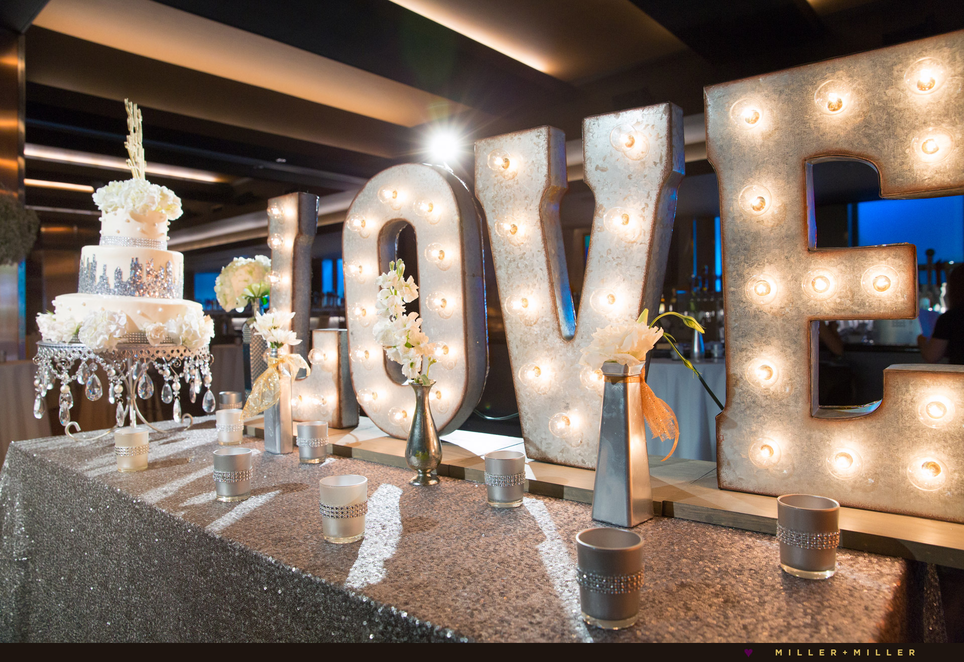 Howells & Hood wedding love letters sign