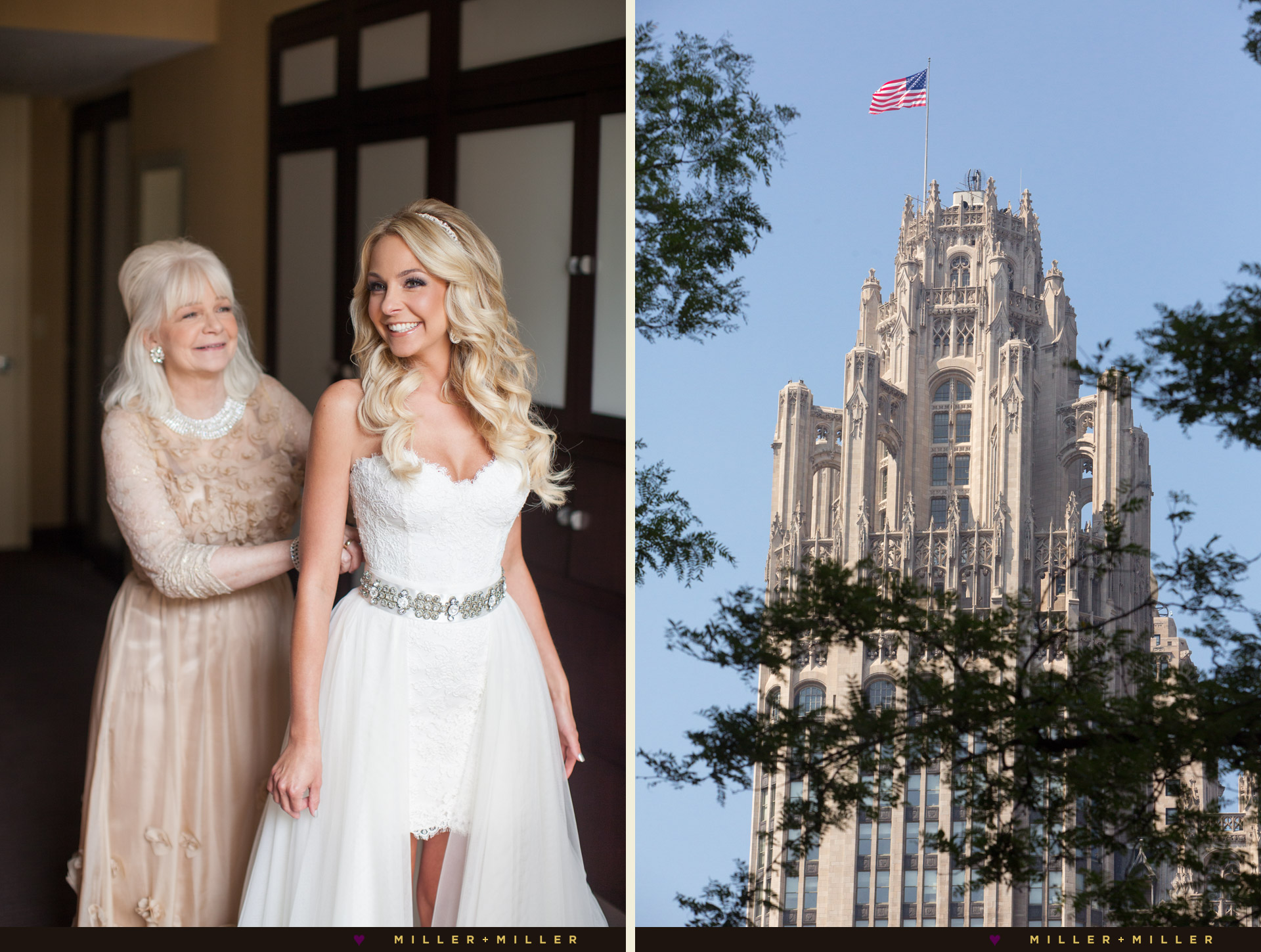 Tribune Tower Crown Chicago wedding photography
