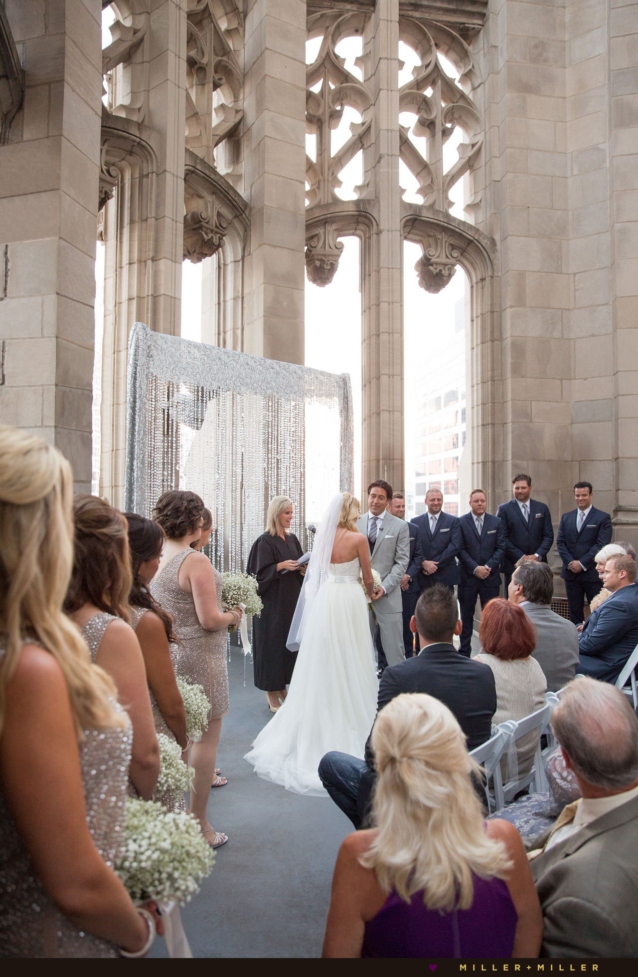 Tribune Tower Crown Wedding