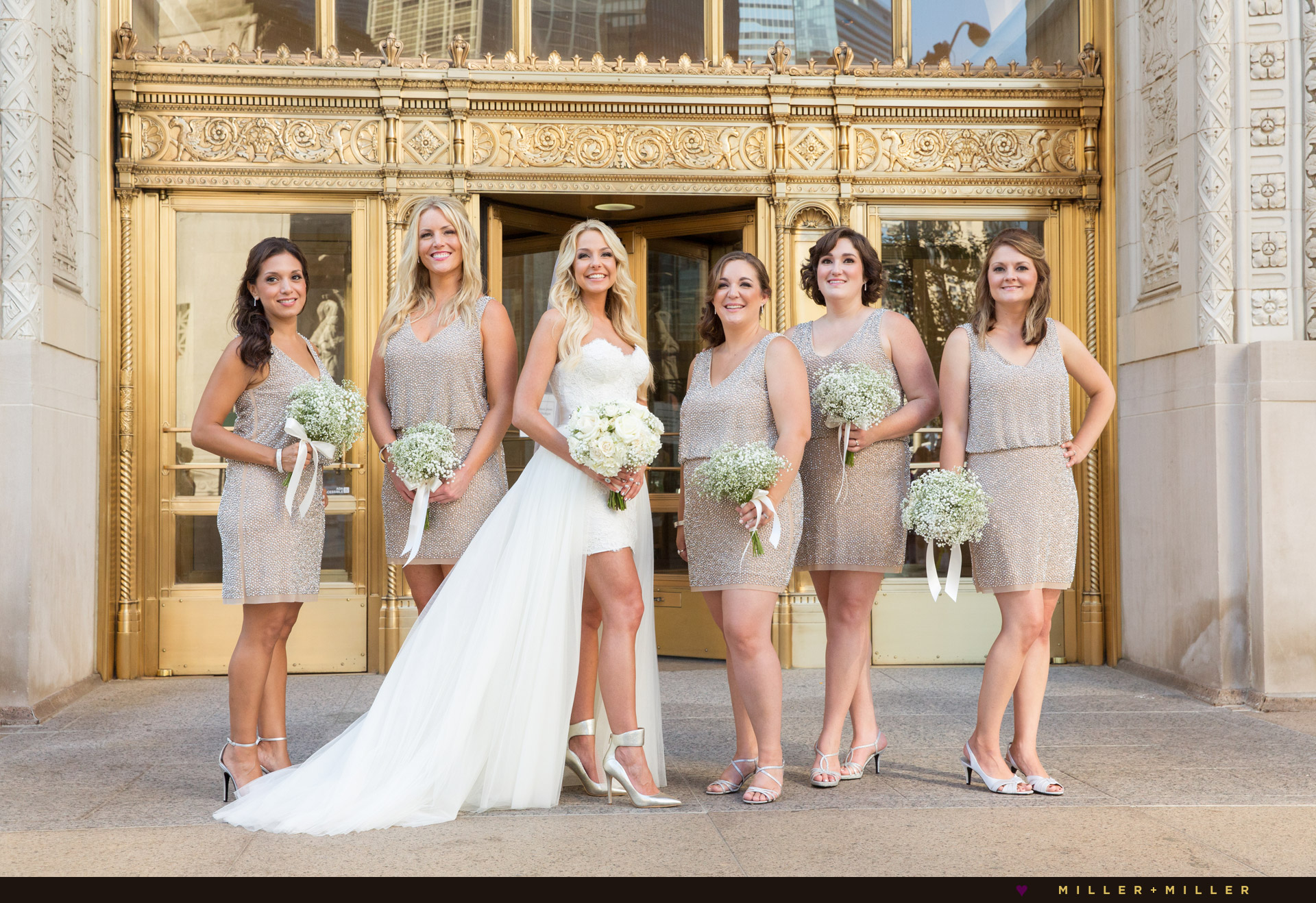 Wrigley Building Chicago wedding photography