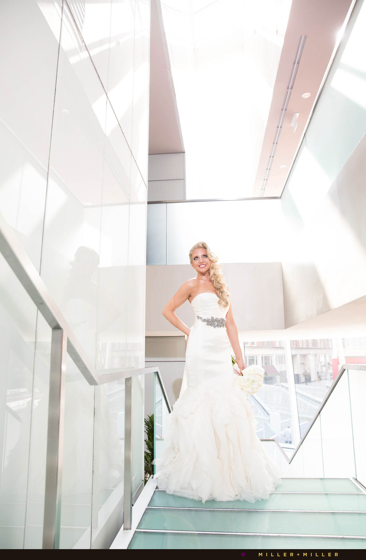 Chicago modern hotel wedding