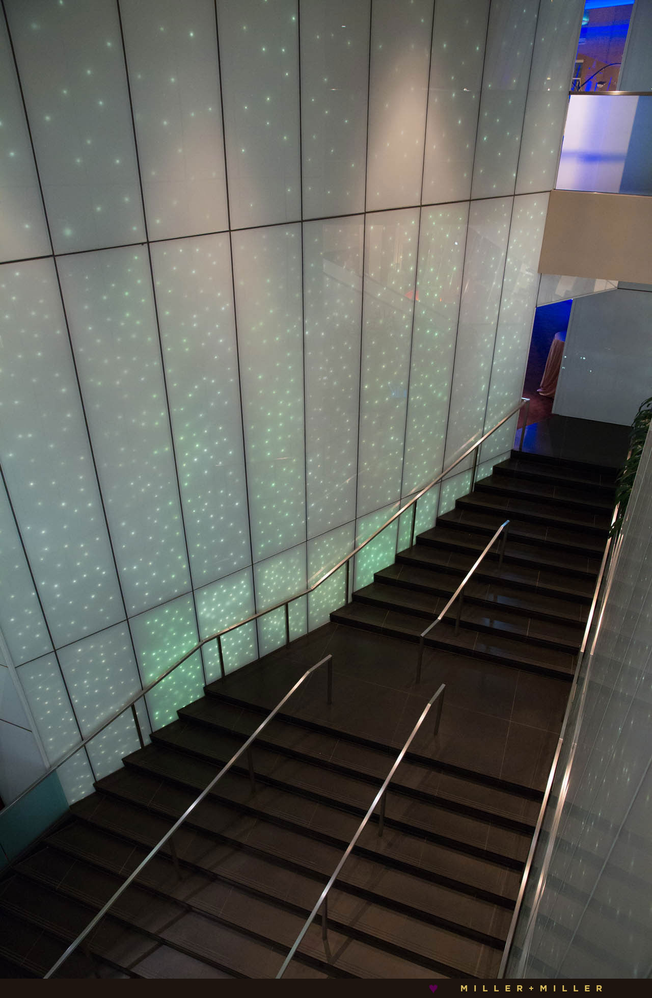 modern Chicago Sofitel hotel glass walls staircase