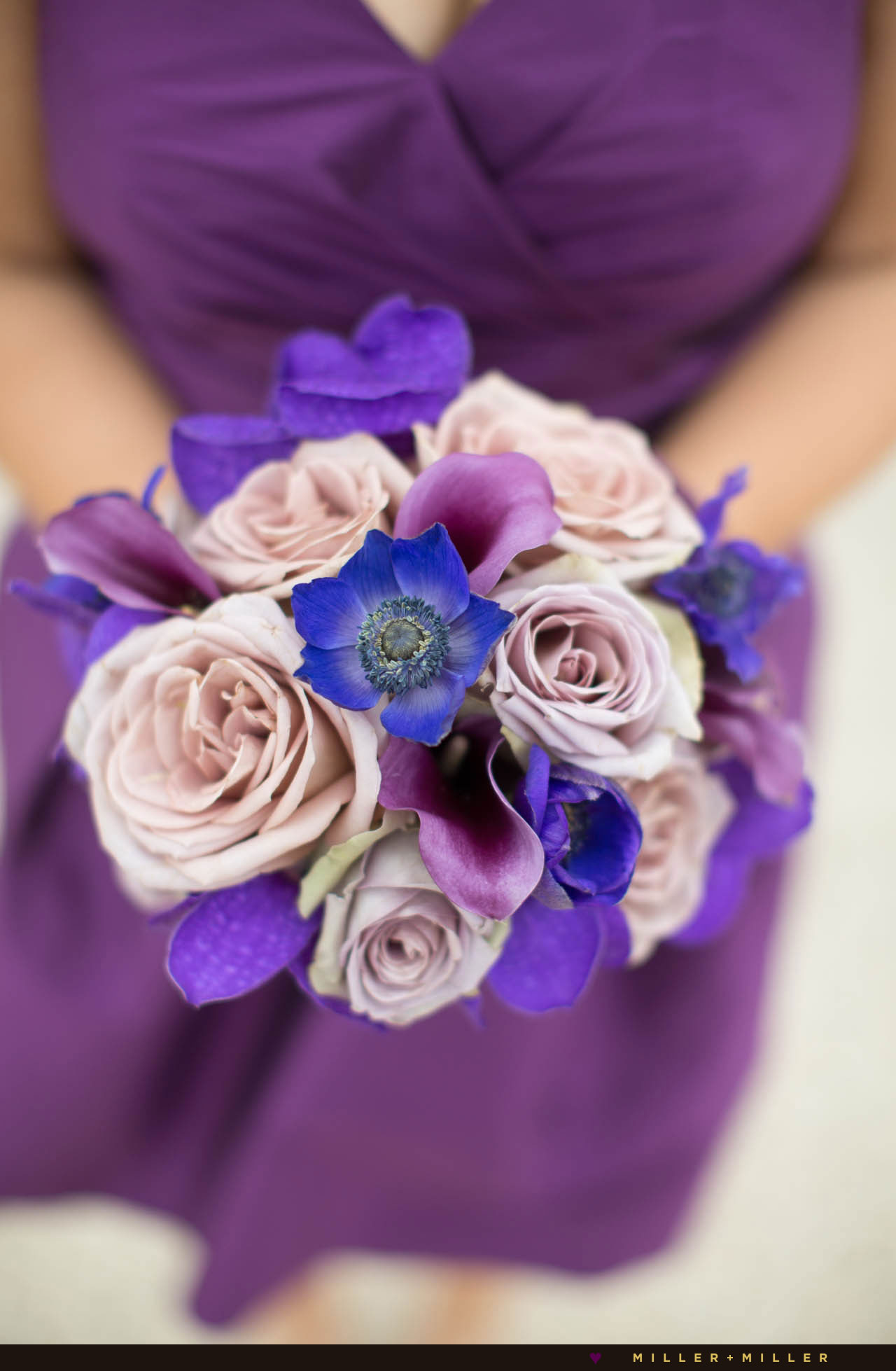 modern elegant purple bouquet