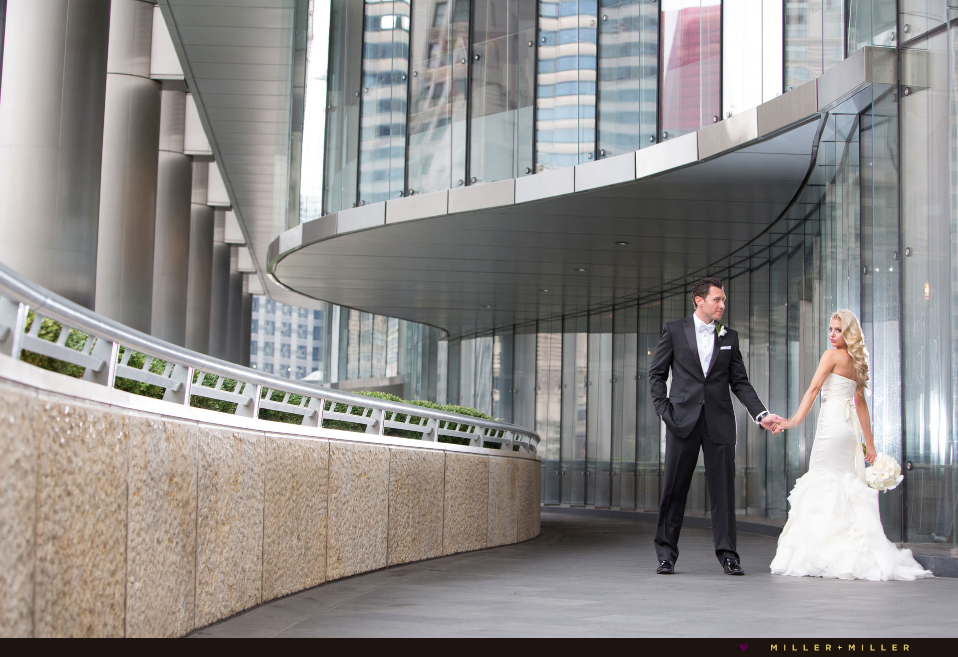 modern wedding Trump Tower Chicago photographer