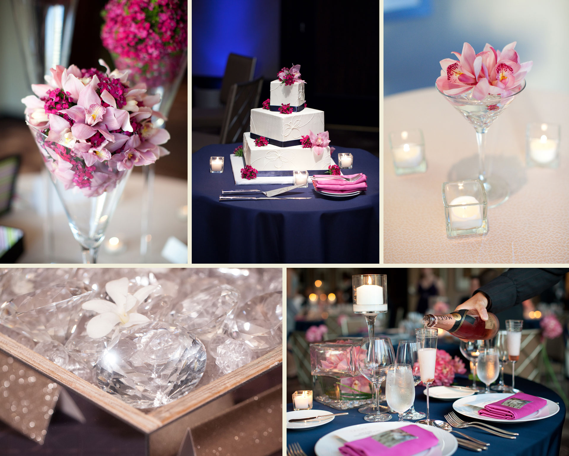 Summer modern wedding Trump Chicago