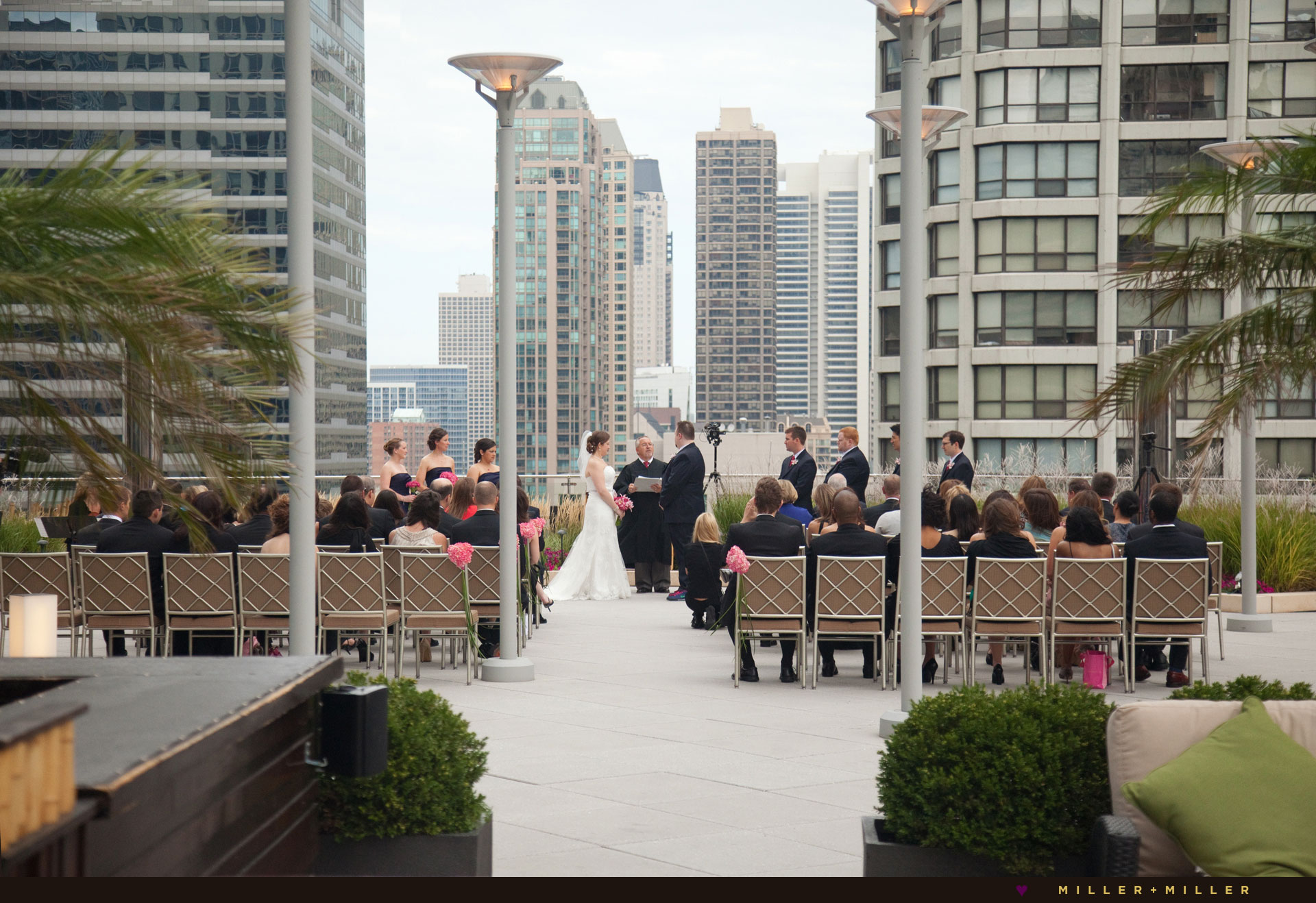 Trump Chicago terrace rooftop ceremony