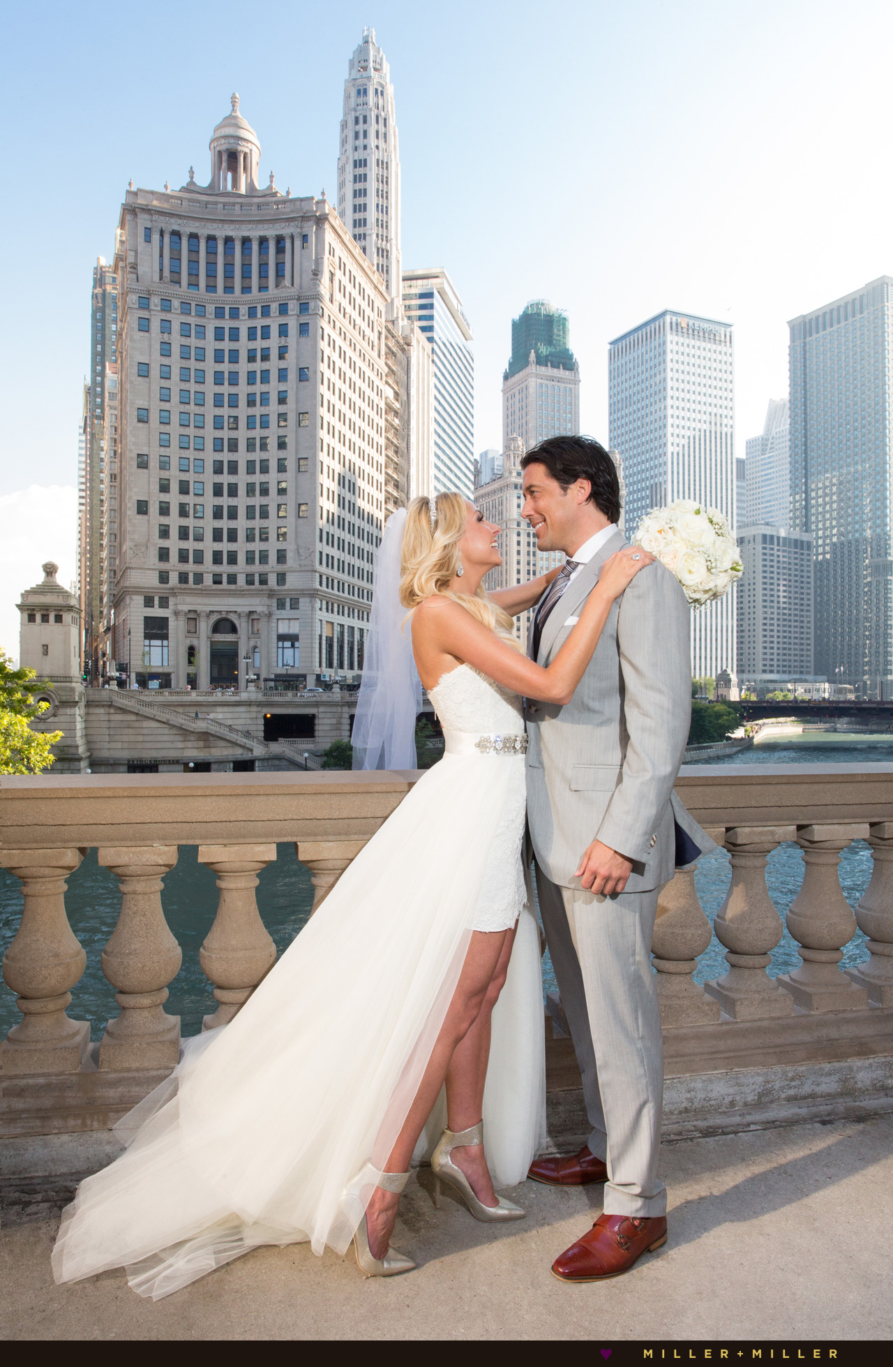 Wedding Photos Wrigley Building Michigan Avenue