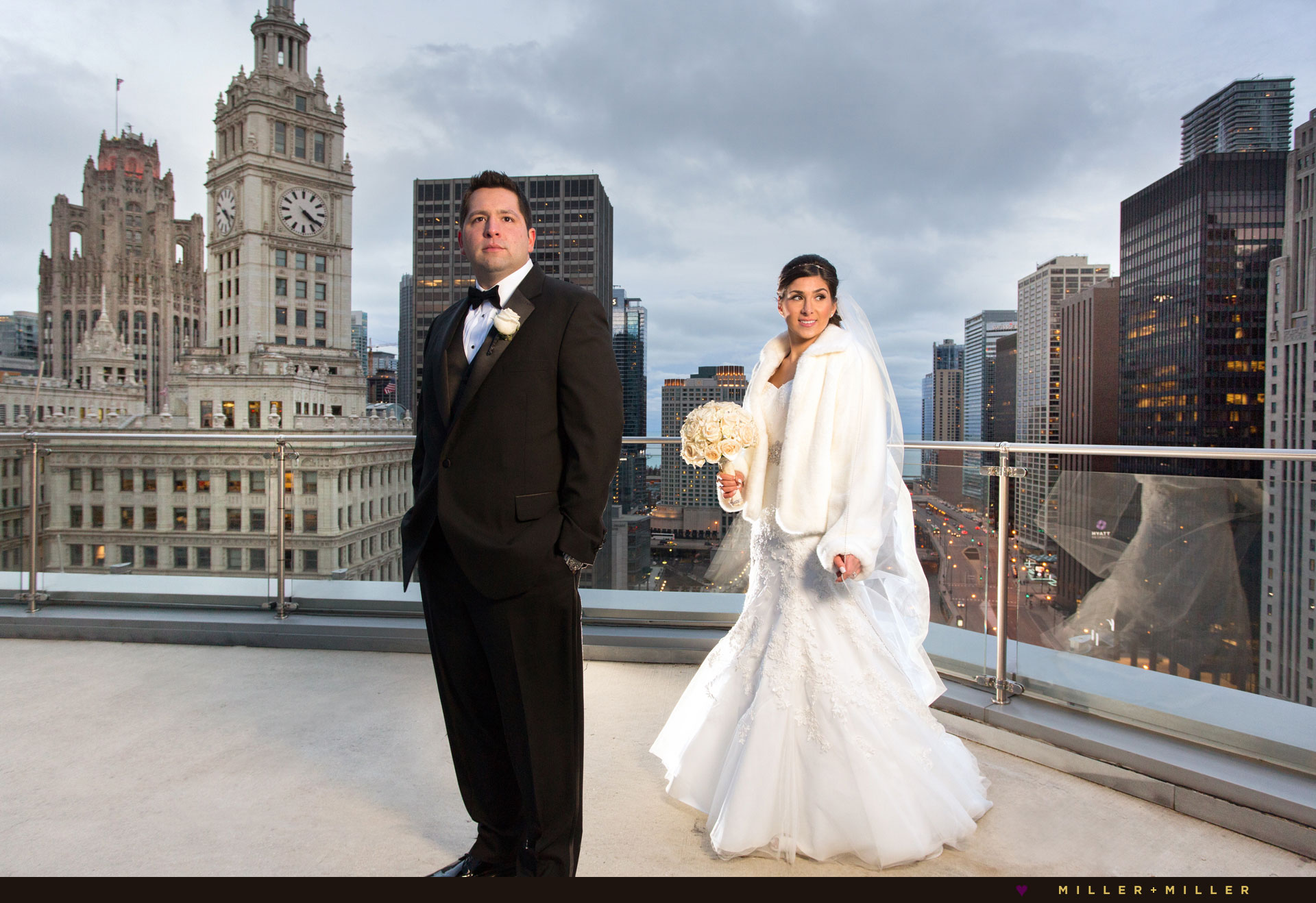 winter weddings Trump hotel Chicago