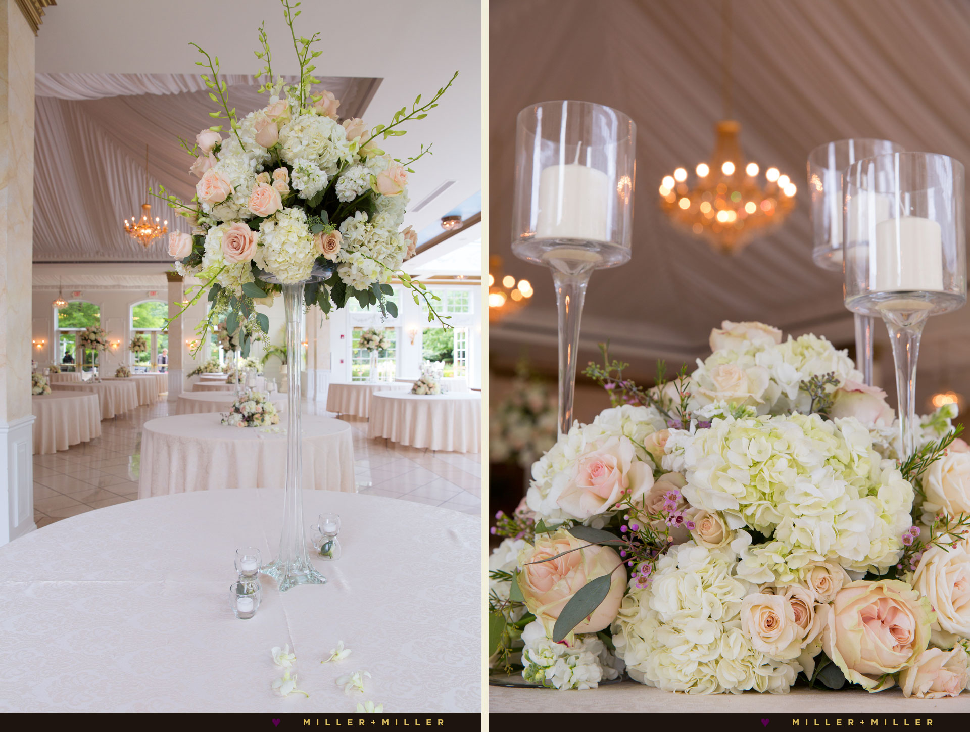 elegant English garden blush wedding gold ballroom
