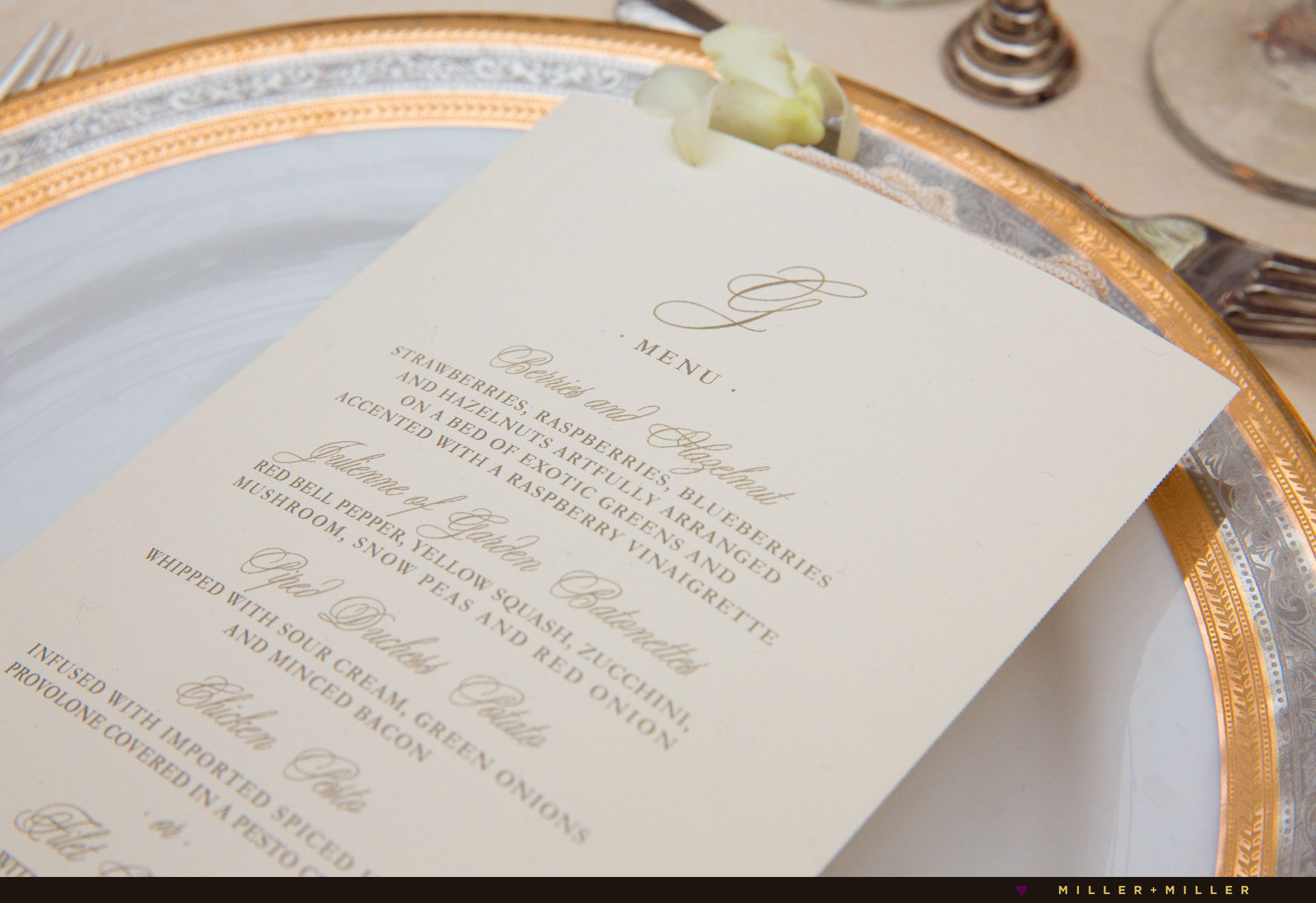 elegant gold plated reception